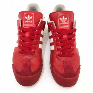 Men's adidas Samoa Athletic Shoe Red/White Size 9
